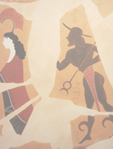 greek mural of warrior